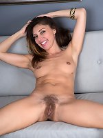 Shameless Chloe R exposes hairy snatch for good